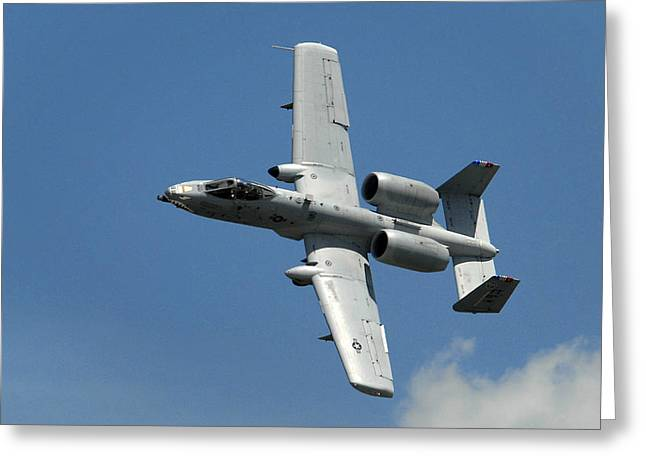 Military Airplanes Photographs Greeting Cards - A-10 Warthog Greeting Card by Murray Bloom
