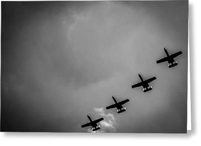 Fighters Greeting Cards - A-10 Warthogs in Formation  Greeting Card by Justin Woodhouse