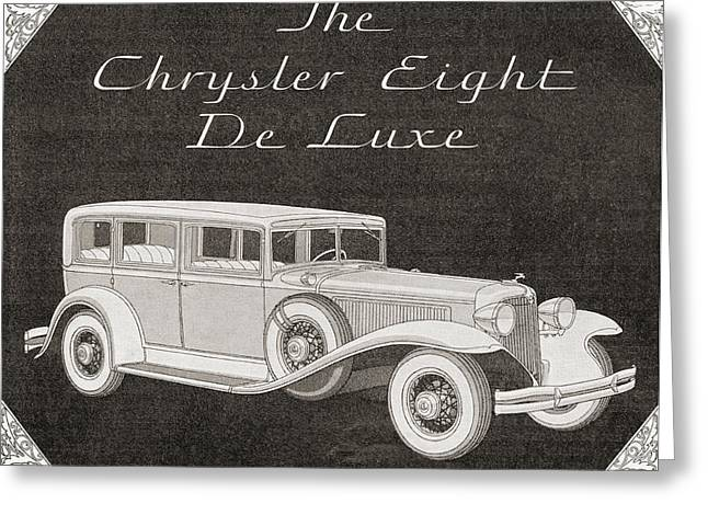 A 1930s Advertisement For A Chrysler Greeting Card by Vintage Design Pics