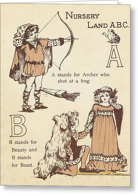 Jack And Jill Greeting Cards - A and B Greeting Card by Reynold Jay