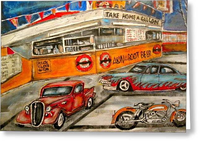 A And W 1950 Greeting Card by Michael Litvack