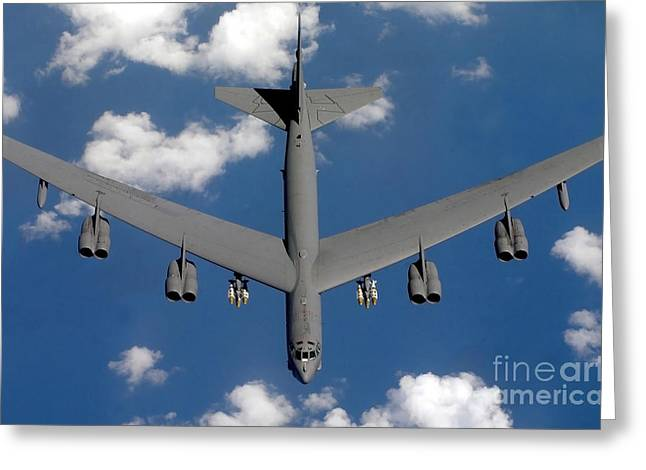 A B-52 Stratofortress Greeting Card by Stocktrek Images