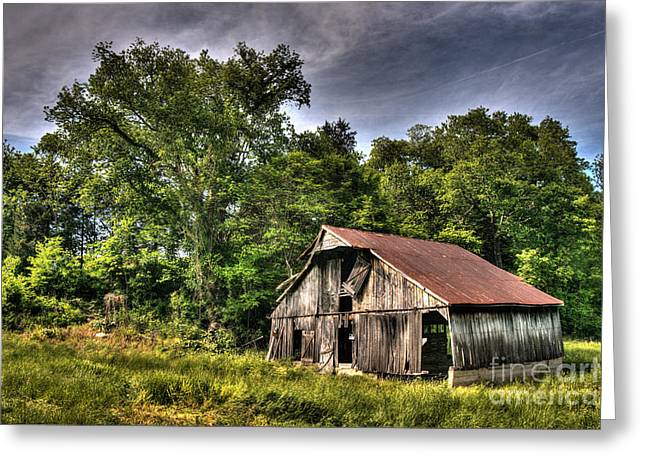 Bedroom Art Greeting Cards - A Barn for All Seasons Greeting Card by William Fields