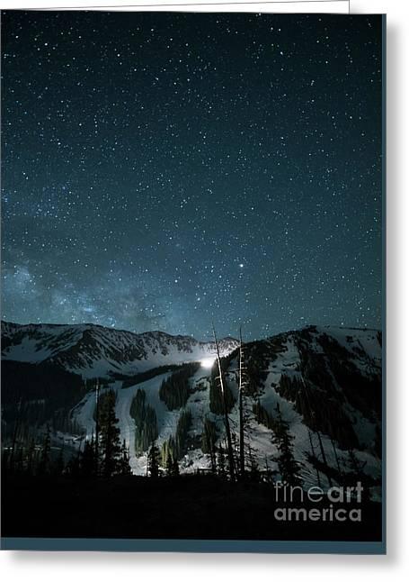 A-basin At Night Greeting Card by Juli Scalzi