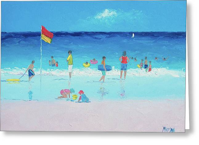 Beach Themed Greeting Cards - A Beach Holiday Greeting Card by Jan Matson