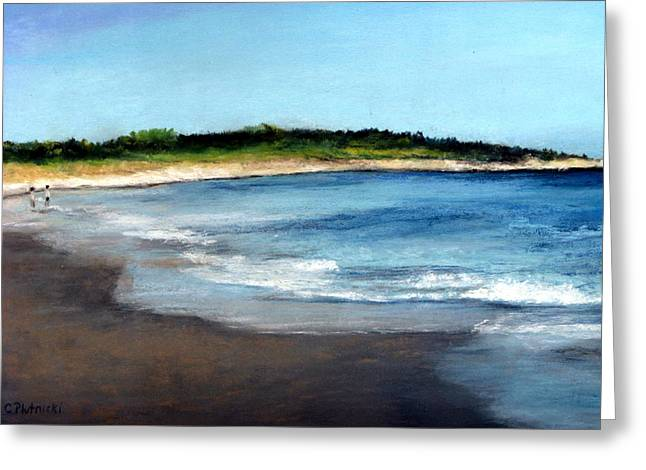Cindy Plutnicki Greeting Cards - A Beach in Smithfield Greeting Card by Cindy Plutnicki
