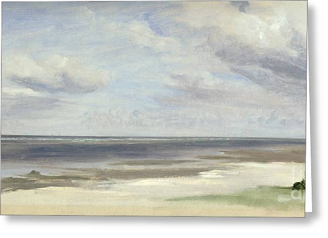 A Beach On The Baltic Sea At Laboe Greeting Card by Jacob Gensler