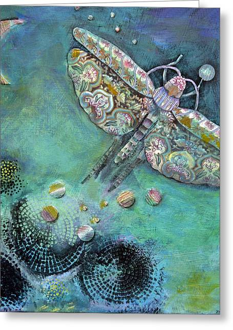 Fantasy Jewelry Greeting Cards - A Beacon in the Night Greeting Card by Mirinda Kossoff