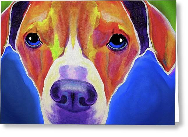 A Beagle By Nixo Greeting Card by Nicholas Efthimiou Nixo