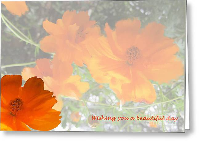 Wishes Greeting Cards - A Beautiful Day Greeting Card by Nancy Worrell
