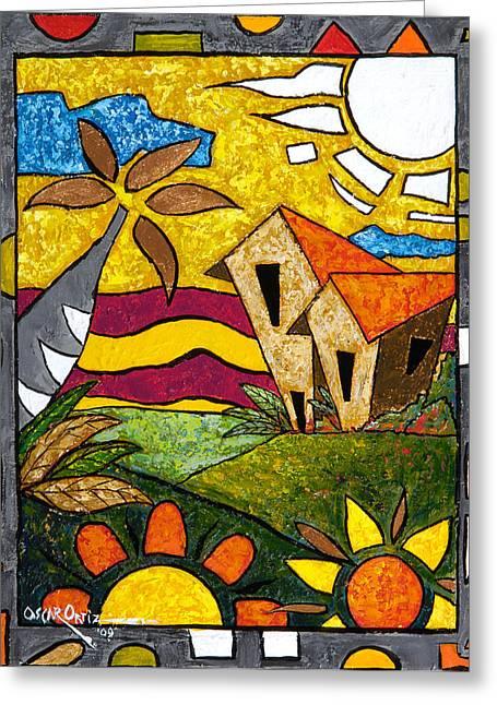 A Beautiful Day Greeting Card by Oscar Ortiz