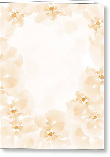 Geometric Design Greeting Cards - A beautiful decorative ring of orchids Greeting Card by Jozef Klopacka
