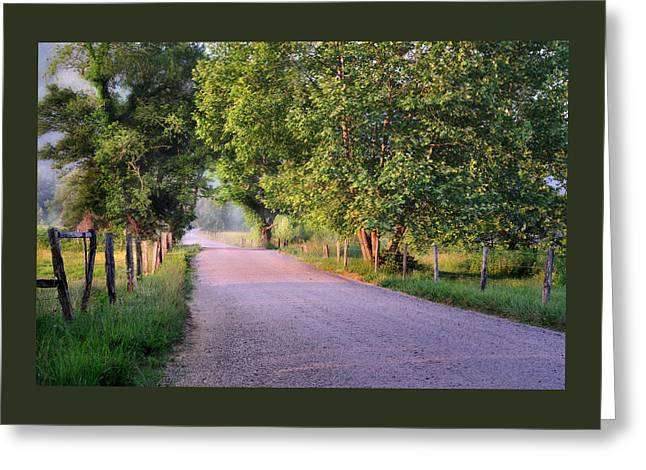 Morning Light Sparks Lane  Greeting Card by Thomas Schoeller