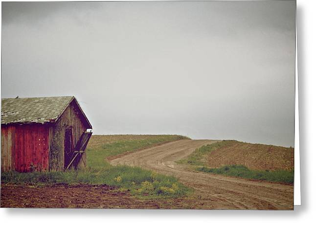 Shed Greeting Cards - A Bend In The Road Greeting Card by Odd Jeppesen