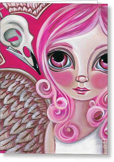 Faery ists Paintings Greeting Cards - A Bird Friend Long Gone Greeting Card by Jaz Higgins