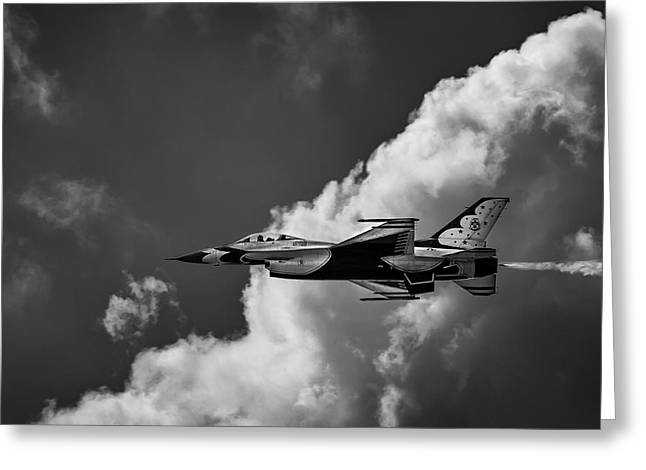 Military Airplanes Greeting Cards - A Birds Eye View Greeting Card by Dale Kincaid