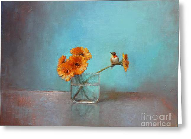 Glass Vase Greeting Cards - A Bit of Summer Greeting Card by Lori  McNee