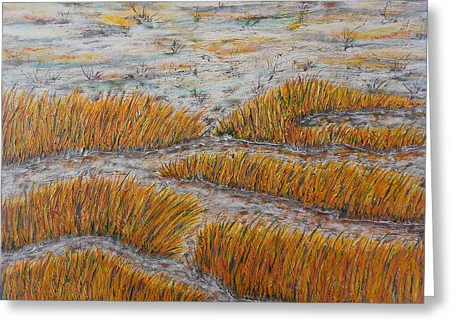 Rivers In The Fall Mixed Media Greeting Cards - A Bit of the Pagan River Marsh Greeting Card by Don Williams