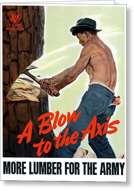 A Blow To The Axis - Ww2 Greeting Card by War Is Hell Store