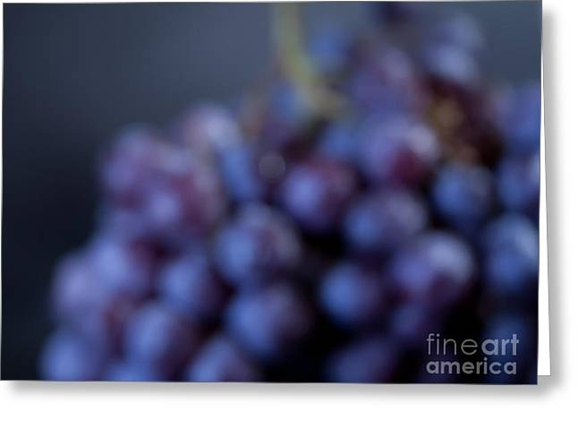 Bunch Of Grapes Greeting Cards - A Blue Bunch of Grapes Greeting Card by Patricia Bainter