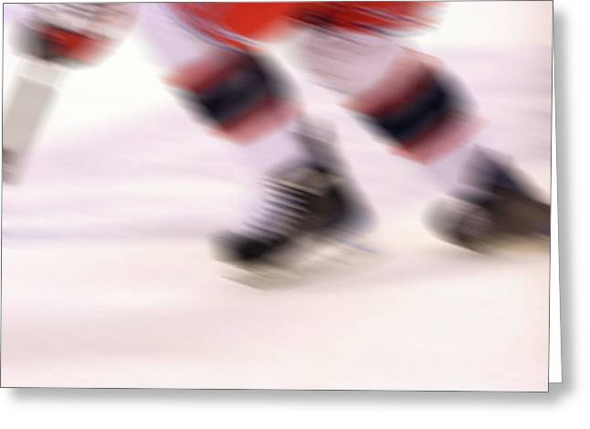 A blur of Ice Speed Greeting Card by Karol  Livote