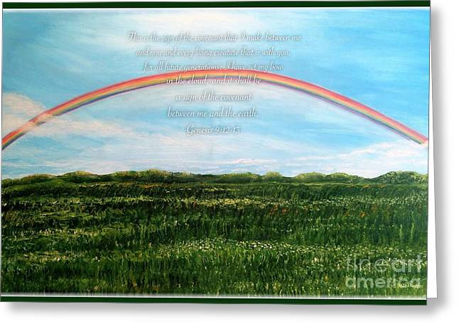 A Bow Of Promise From God Greeting Card by Kimberlee Baxter