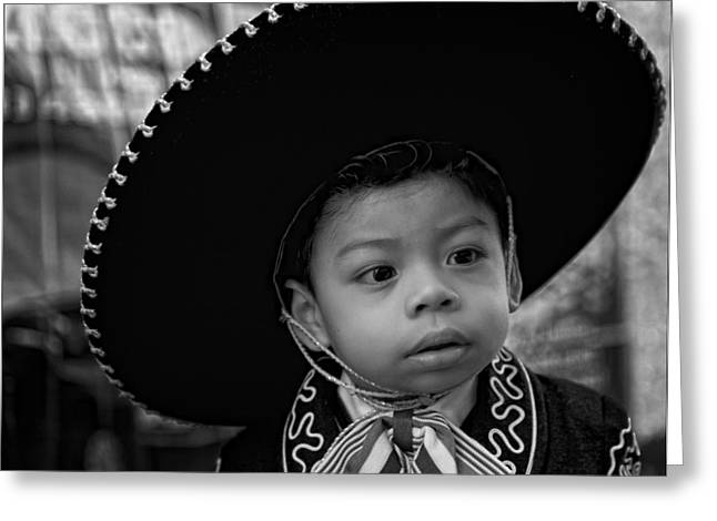 A Boy And His Sombrero Greeting Card by Robert Ullmann