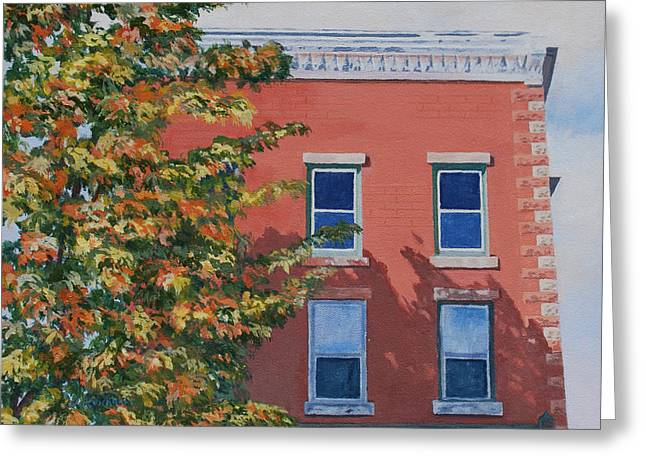 A Brick in Time Greeting Card by Lynne Reichhart