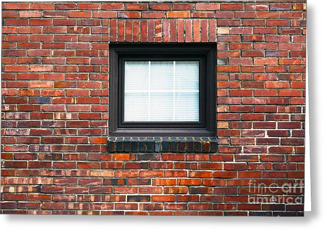Man Made Space Greeting Cards - A Brick Wall. Seattle Washington Usa Greeting Card by Nathan Griffith