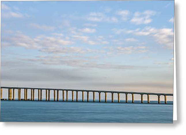 Ocean Art Photography Greeting Cards - A Bridge Moves II Greeting Card by Jon Glaser