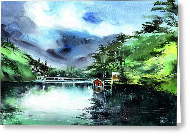 A Bridge Not Too Far Greeting Card by Anil Nene