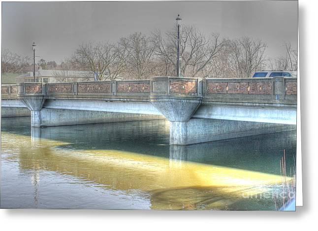 Fox River Greeting Cards - A bridge on the Fox Greeting Card by David Bearden
