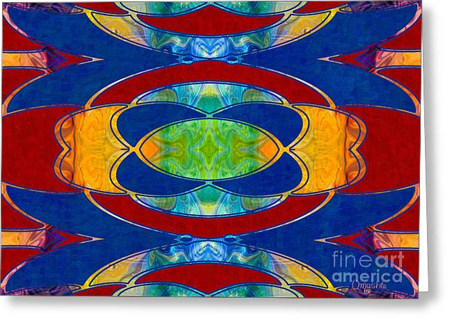 A Brisk Imagination Abstract Bliss Art By Omashte Greeting Card by Omaste Witkowski