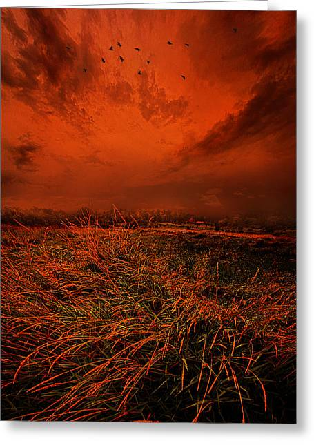 Storm Clouds Greeting Cards - A Broken Promise Greeting Card by Phil Koch