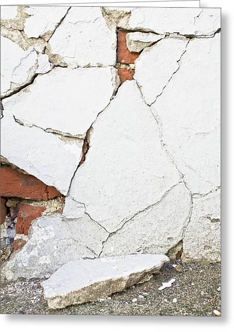A Broken Wall  Greeting Card by Tom Gowanlock
