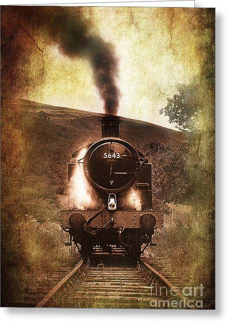 Vignette Greeting Cards - A Bygone Era Greeting Card by Meirion Matthias