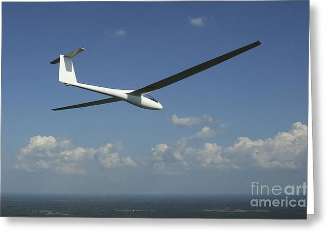 Glider Greeting Cards - Arolladen-schneider Ls4 Glider Greeting Card by Daniel Karlsson