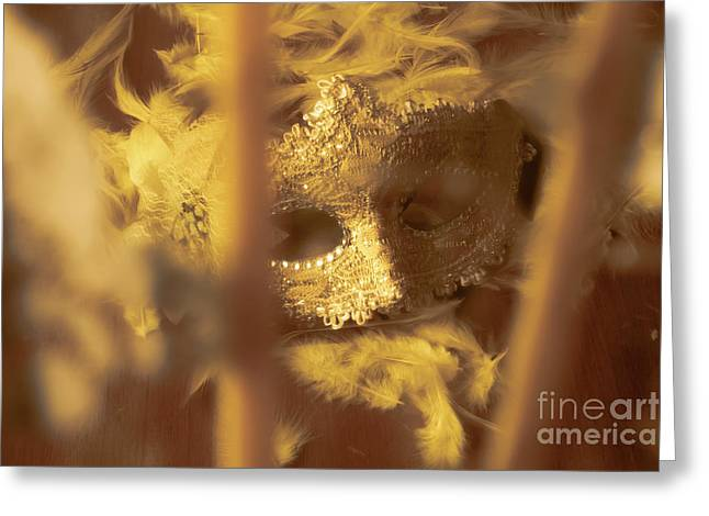 A Cabaret Mystery Greeting Card by Jorgo Photography - Wall Art Gallery