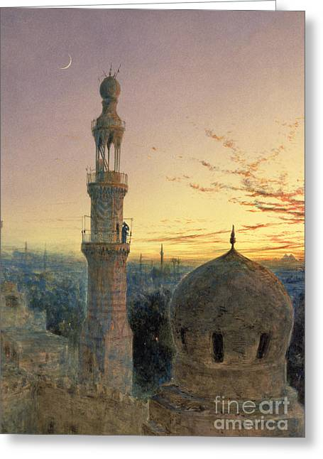 Picturesque Paintings Greeting Cards - A Call to Prayer Greeting Card by Henry Stanier