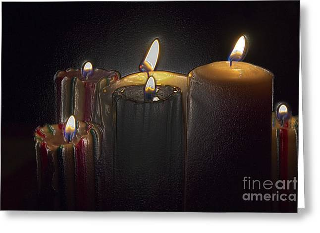Candle Lit Greeting Cards - A Candle Loses No Light By Sharing Its Flame IV Greeting Card by Al Bourassa