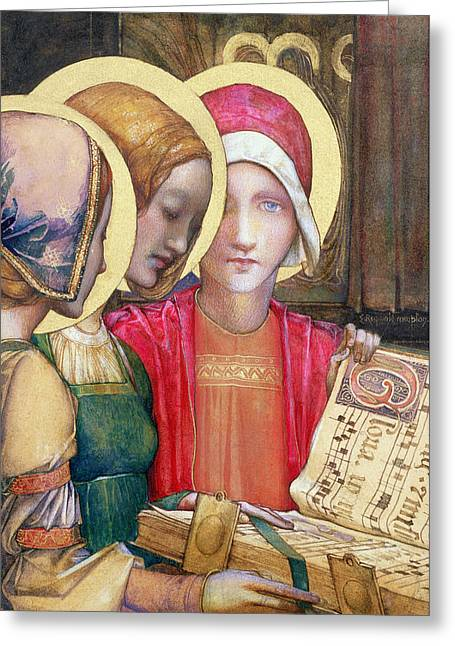 A Carol Greeting Card by Edward Reginald Frampton