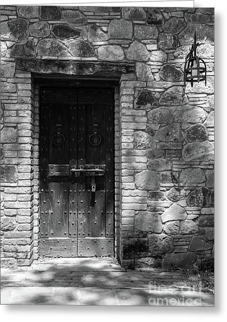 A Castle Door Greeting Card by Cathie Richardson