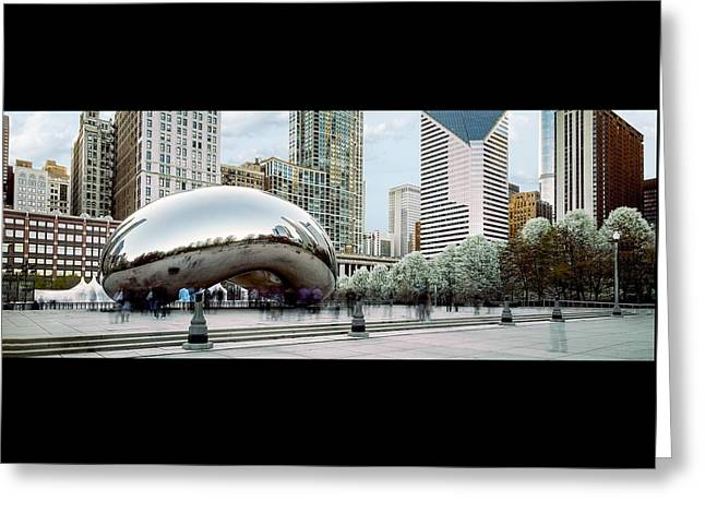 The Bean Greeting Cards - a casual day at the Bean Greeting Card by Martin Armijo