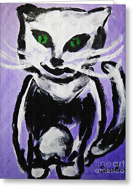 A Cat For Julia Greeting Card by Sarah Loft