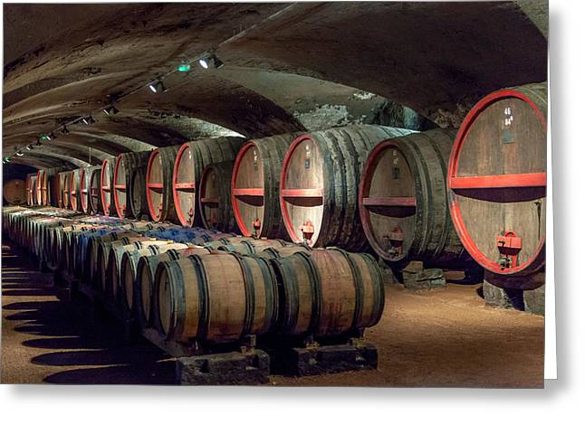 A Cellar Of Burgundy Greeting Card by W Chris Fooshee