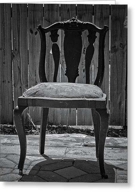 Mahogany Greeting Cards - A Chair in Despair Greeting Card by DigiArt Diaries by Vicky B Fuller