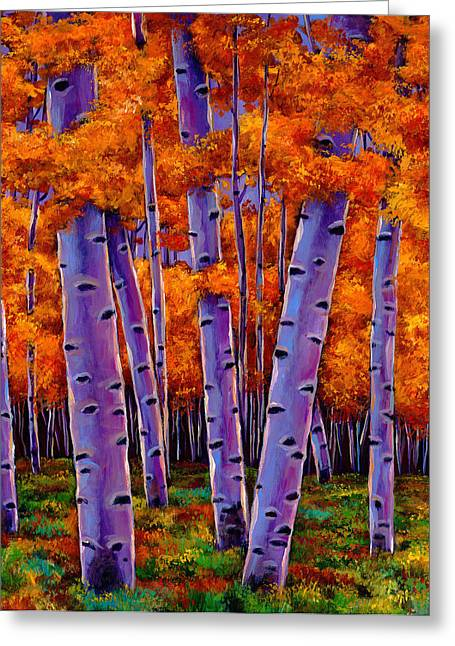 Fall Scene Greeting Cards - A Chance Encounter Greeting Card by Johnathan Harris