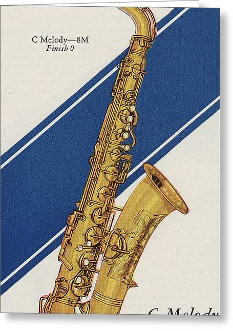 Saxophonists Greeting Cards - A Charles Gerard Conn C Melody Greeting Card by American School