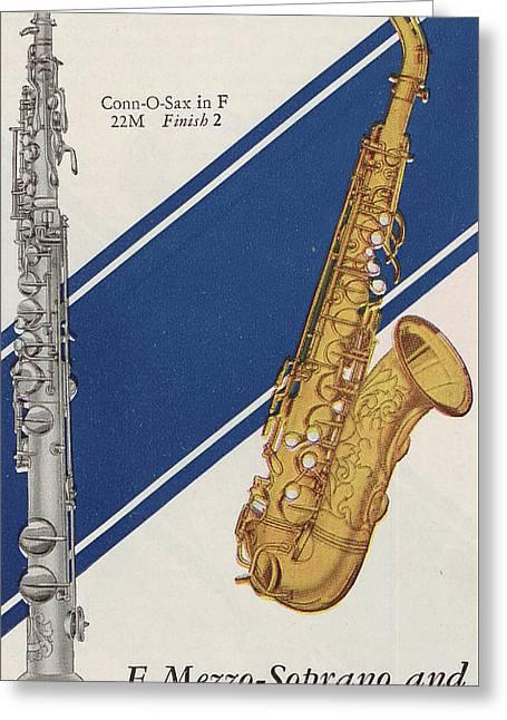 A Charles Gerard Conn F Mezzo-soprano Greeting Card by American School
