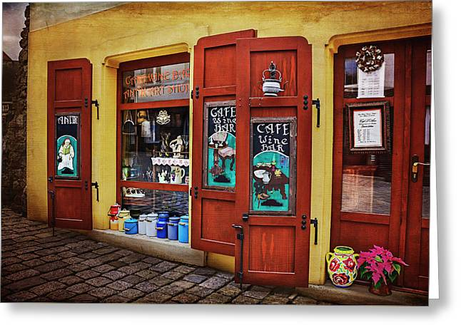 A Charming Little Store In Bratislava Greeting Card by Carol Japp